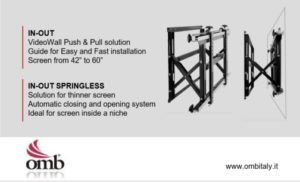 OMB's special videowall mount solution for thinner screen